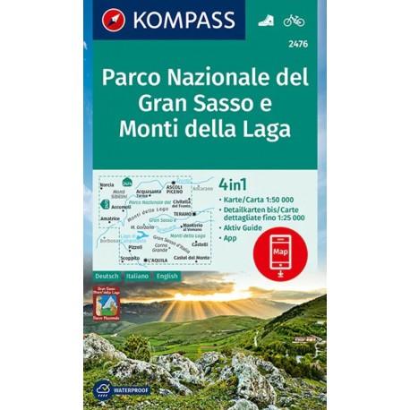 Kompass 2476 NP Gran Sasso, Monti della Laga 1:50 000 turistická mapa