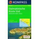 Kompass 2903 Dalmatinische Küste Süd 1:100 000 turistická mapa