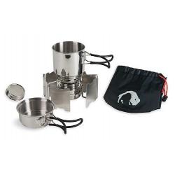 Tatonka Alcohol Burner Set vařič na tekutý líh + nerezové kempingové nádobí
