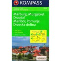 Kompass 2802 Maribor, Murgebiet, Drautal 1:75 000 turistická mapa