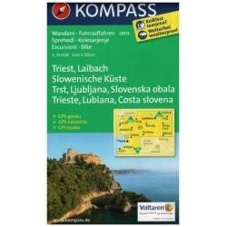 Kompass 2803 Triest, Laibach, Slowenische Küste 1: 75 000