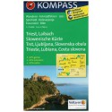 Kompass 2803 Triest, Laibach, Slowenische Küste 1:75 000 turistická mapa