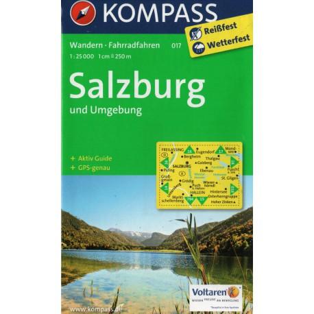 Kompass 017 Salzburg a okolí 1:25 000