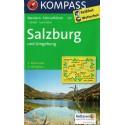 Kompass 017 Salzburg a okolí 1:25 000 turistická mapa