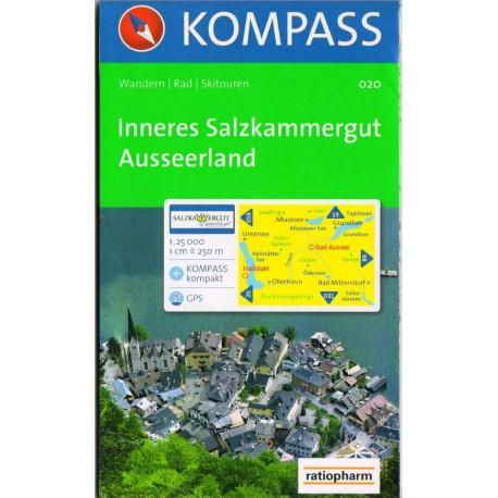 Kompass 020 Inneres Salzkammergut, Ausseerland 1:25 000