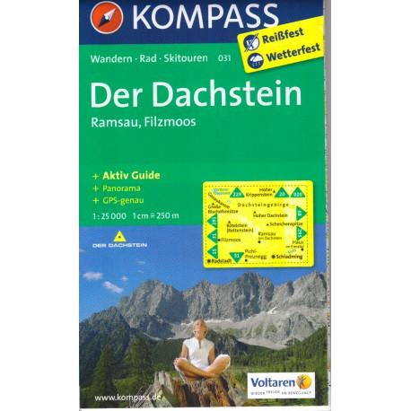 Kompass 031 Der Dachstein, Ramsau, Filzmoos 1:25 000