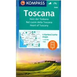 Kompass 2440 Toscana/Toskánsko 1:50 000 turistická mapa