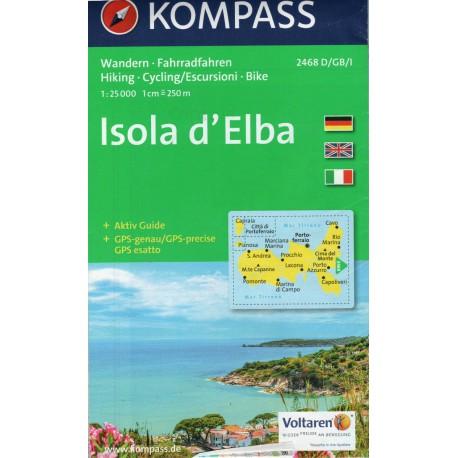 Kompass 2468 Isola d´Elba  1:50 000 turistická mapa