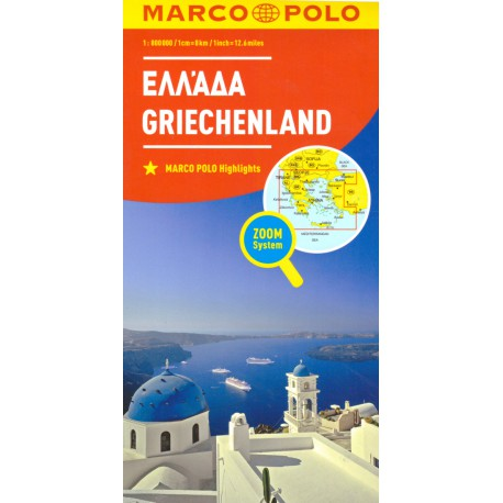 Marco Polo Řecko 1:800 000 automapa