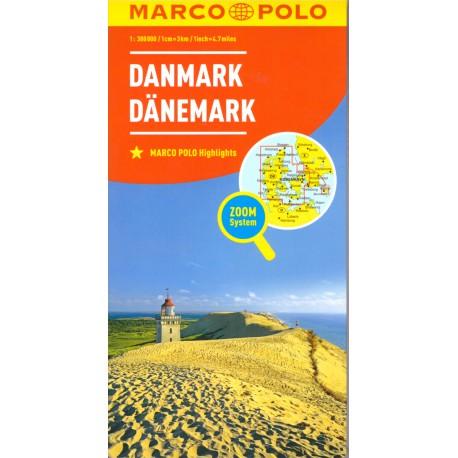 Marco Polo Dánsko 1:300 000 automapa