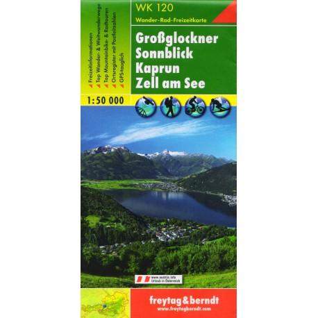 Freytag a Berndt WK 120 Grossglockner, Sonnblick, Kaprun 1:50 000 turistická mapa