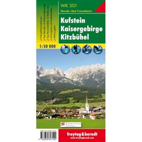 Freytag a Berndt WK 301 Kufstein, Kaisergebirge, Kitzbühel 1:50 000 turistická mapa