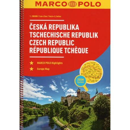 Marco Polo Česká republika 1:200 000 autoatlas