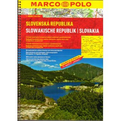 Marco Polo Slovenká republika 1:200 000 autoatlas spirála