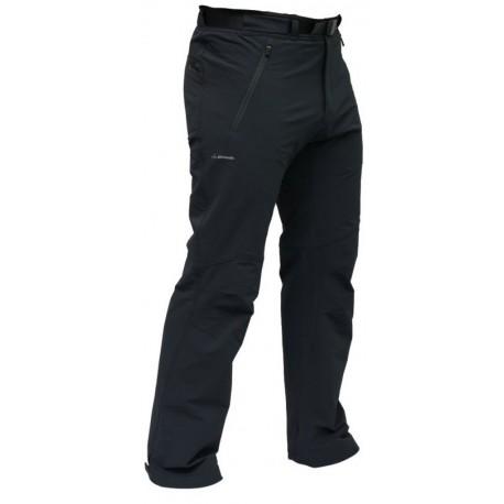 Pinguin Crest šedá pánské softshellové kalhoty Airysoft