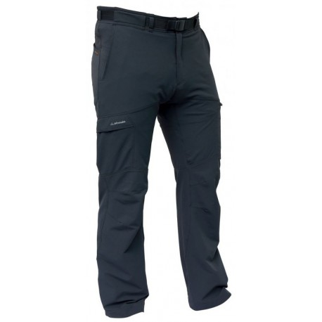 Pinguin Flow šedá pánské softshellové kalhoty Airysoft
