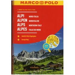Marco Polo Alpy + Severní Itálie 1:300 000 autoatlas