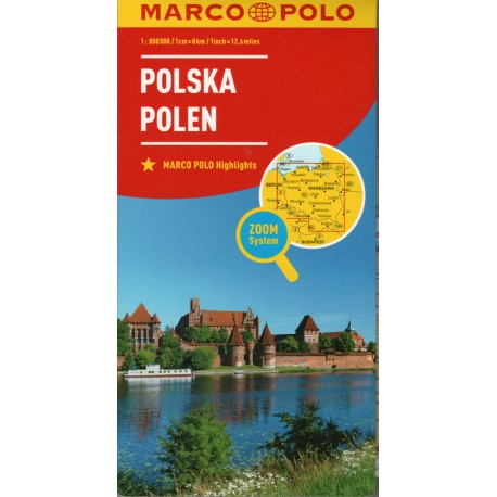 Marco Polo Polsko 1:800 000 automapa