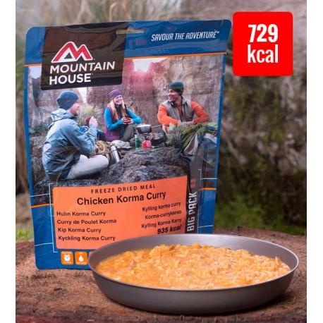 Mountain House Kuře s rýží ve smetanové Korma kari omáčce 2 porce expediční strava