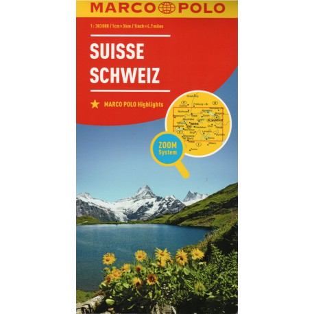 Marco Polo Švýcarsko 1:303 000 automapa