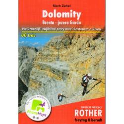 Freytag a Berndt Dolomity, Brenta, jezero Garda průvodce Rother