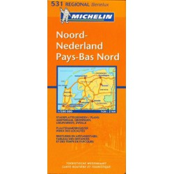 Michelin 531 Nizozemsko sever 1:200 000 automapa