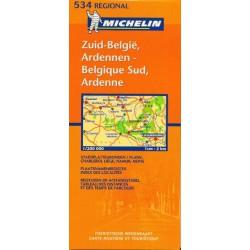 Michelin 534 Belgie jih, Lucembursko 1:200 000 automapa