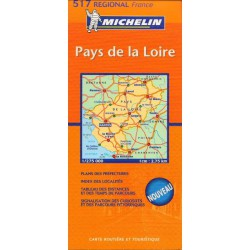 Michelin 517 Pays de la Loire 1:275 000 automapa