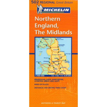 Michelin 502 Northern England, The Midlands 1:400 000 automapa