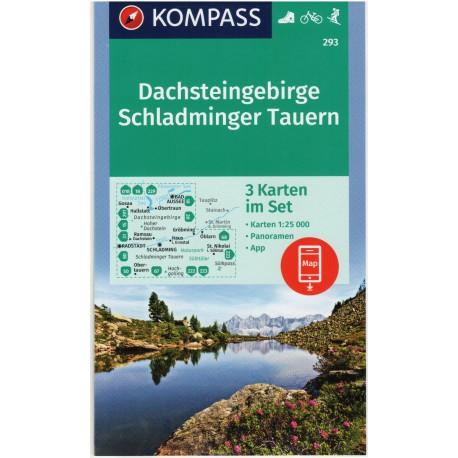 Kompass 293 Dachsteingruppe Schladminger Tauern 1:50 000