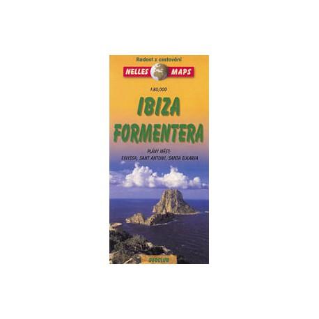 Nelles Ibiza, Formentera 1:80 000 automapa