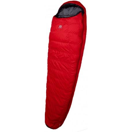 Sir Joseph Rimo II 850 200 červená třísezónní péřový spací pytel