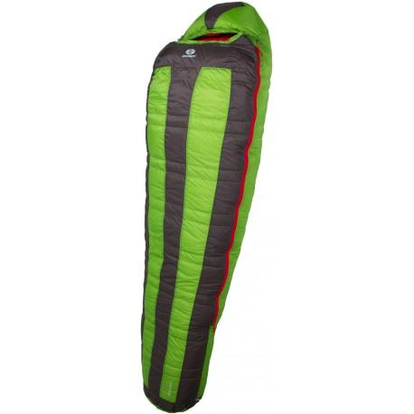 Sir Joseph Looping II 900 190 zelená expediční nepromokavý péřový spací pytel Exel Dry Lig
