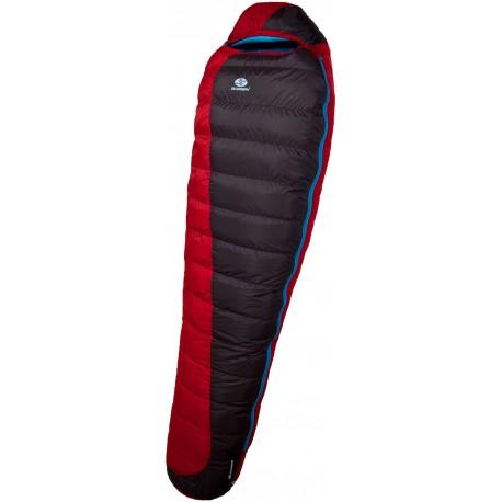 Sir Joseph Erratic Plus II 850 200 červená zimní nepromokavý péřový spací pytel Exel Dry L