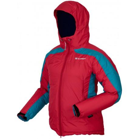 Sir Joseph Shiprock Lady II červená/zelená dámská nepromokavá zimní péřová bunda