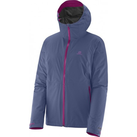 Salomon Mauka Jacket GTX W abyss blue 363083 dámská nepromokavá bunda Gore-Tex Paclite