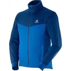 Salomon Escape Jacket M union blue 363286 pánská větruodolná běžkařská a cyklistická bunda