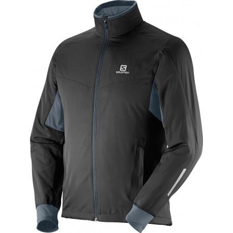 Salomon Escape Jacket M black 363285 pánská větruodolná běžkařská a cyklistická bunda