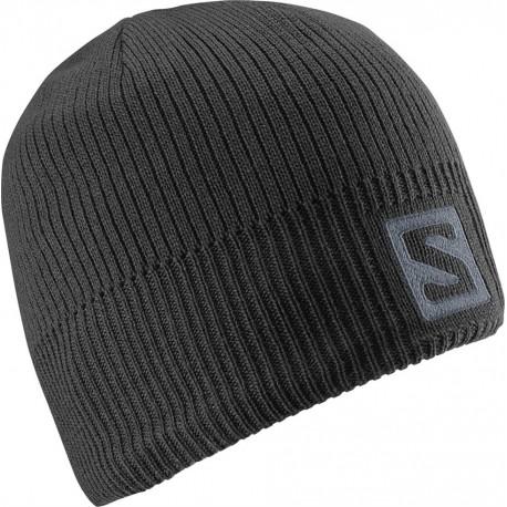 Salomon Logo Beanie black 366850 unisex pletená čepice