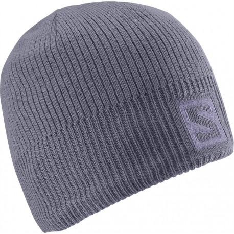 Salomon Logo Beanie artist grey-x 366848 unisex pletená čepice
