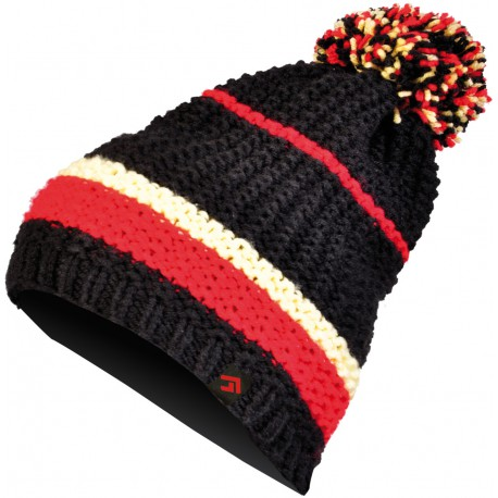 Direct Alpine Slash black/red unisex pletená čepice