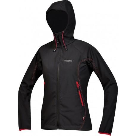 Direct Alpine Tanama black dámská softshellová bunda Soft Shell 4way Tex