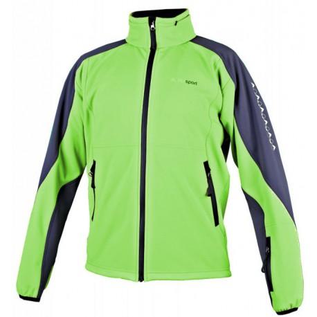 Alpisport Spirit zelená pánská softshellová bunda Rivertex Softshell