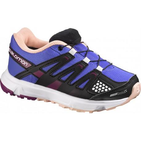 Salomon XR Mission CSWP J light spectrum/m. purple 356944 dětské nízké nepromokavé boty