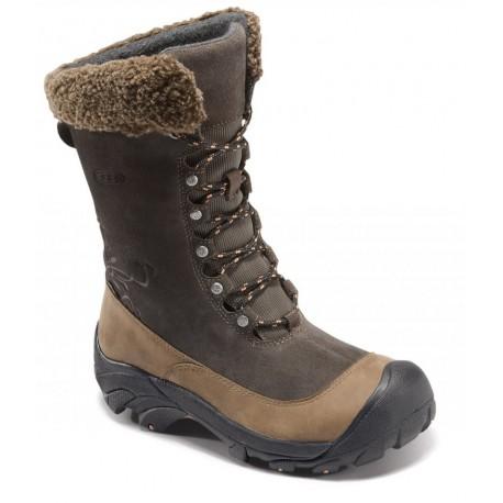 3f8db27c610 Keen Hoodoo II WP W black olive arabesque dámské zimní nepromokavé boty