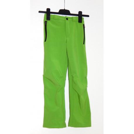 Alpisport Peak Junior zelená dětské softshellové kalhoty Rivertex Softshell