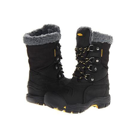 Keen Basin WP Jr black/yellow dětské zimní nepromokavé boty