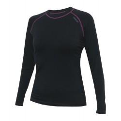 Jitex Ibaka 802 TSS černá/růžová dámské triko dlouhý rukáv Merino vlna