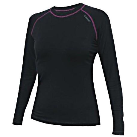 Jitex BoCo Ibaka 802 TSS černá/fialová dámské triko dlouhý rukáv Merino vlna