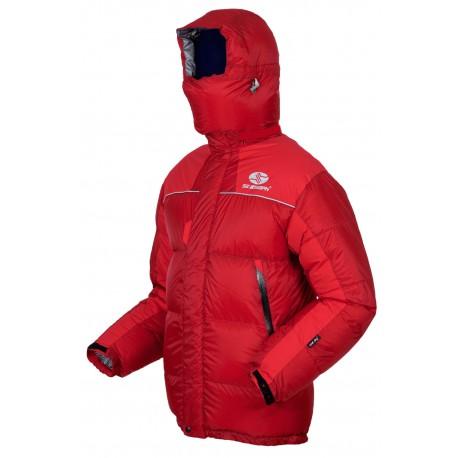 Sir Joseph 8000 Long II Jacket červená unisex nepromokavá péřová bunda Exel Dry Light 100